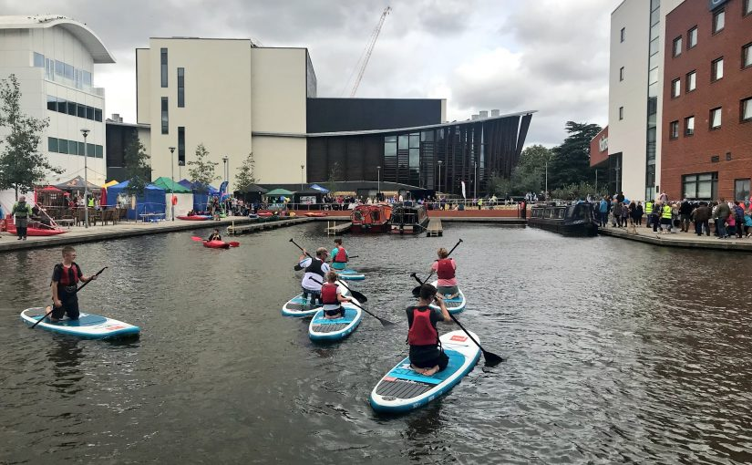 Paddle boarding at Waterside Festival