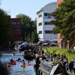 Waterside Festival canal activities and market